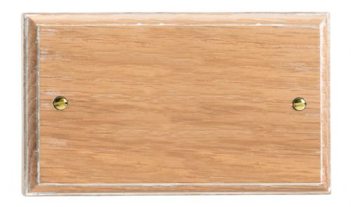 Varilight XKDBLO Kilnwood Limed Oak 2 Gang Double Blank Plate